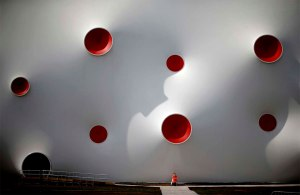 white and red dots