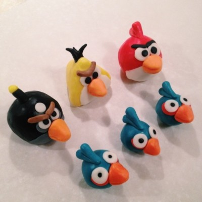 angry birds fondant