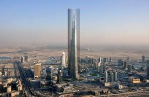 Image: An aerial view of Burj Dubai is seen in Dubai