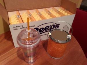 orange peeps
