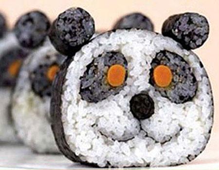 panda bear sushi