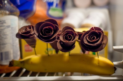 chocolate roses banana