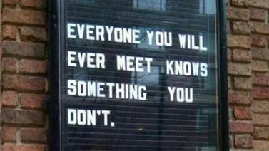 know something