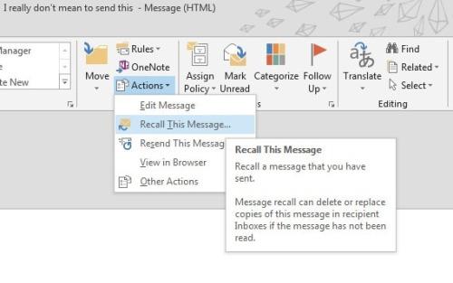 message recall